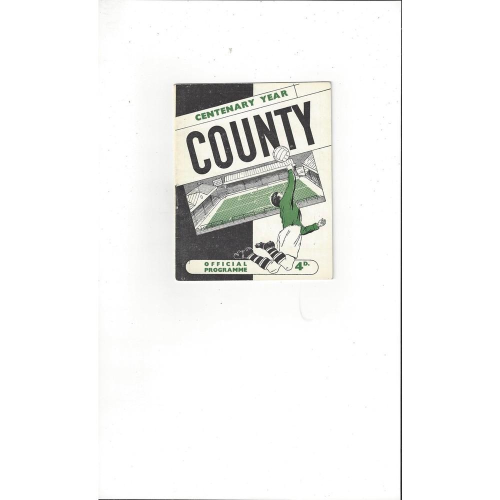 1961/62 Notts County v Bournemouth Football Programme