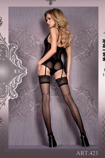 Ballerina 421 Hold Ups Nero (Black)