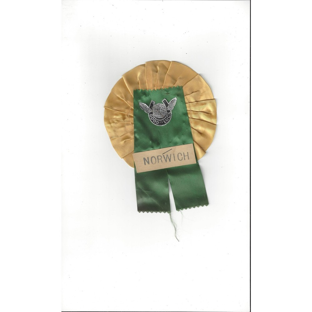 Norwich City small Vintage Football Rosette