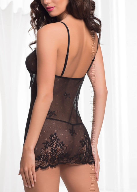 Diamond Sexy Chemise, Black, Ir Er
