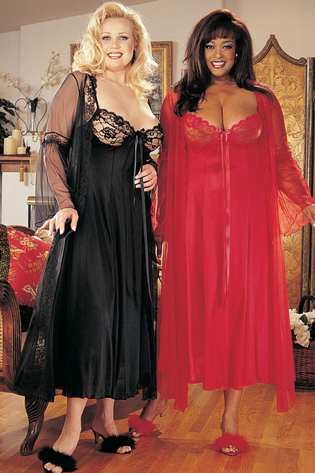 Pegnoir Set, Red. SOH, Shirley of Hollywood