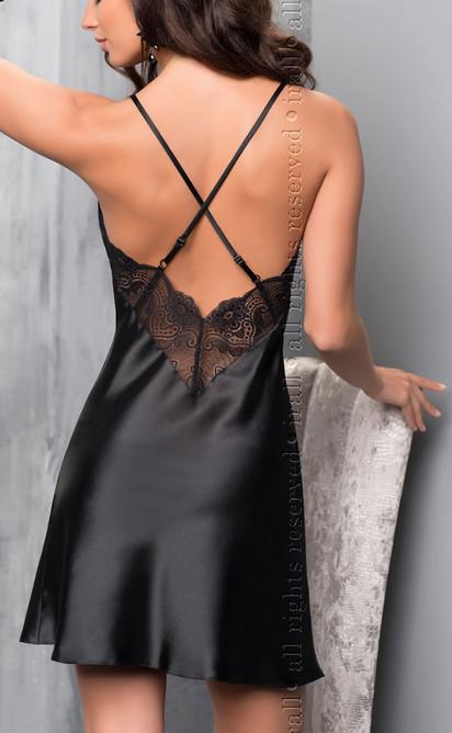 Sharon Night Dress Black.ir
