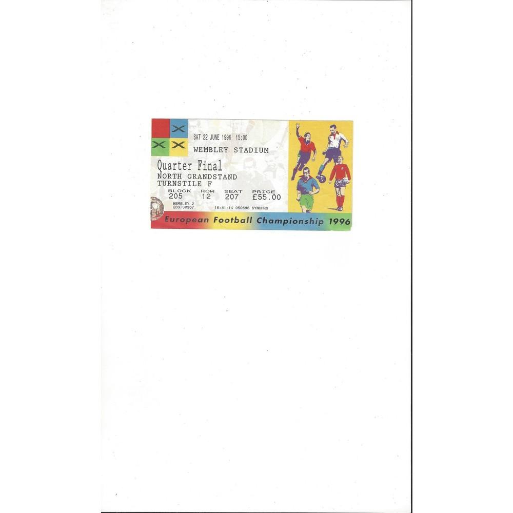 England v Spain Euro 96 Qtr Final Match Ticket Stub 22nd June