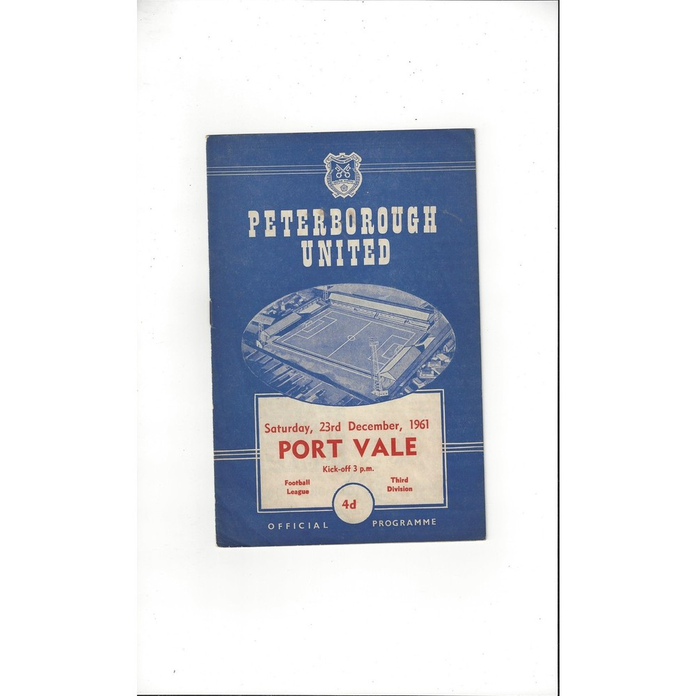 1961/62 Peterborough United v Port Vale Football Programme