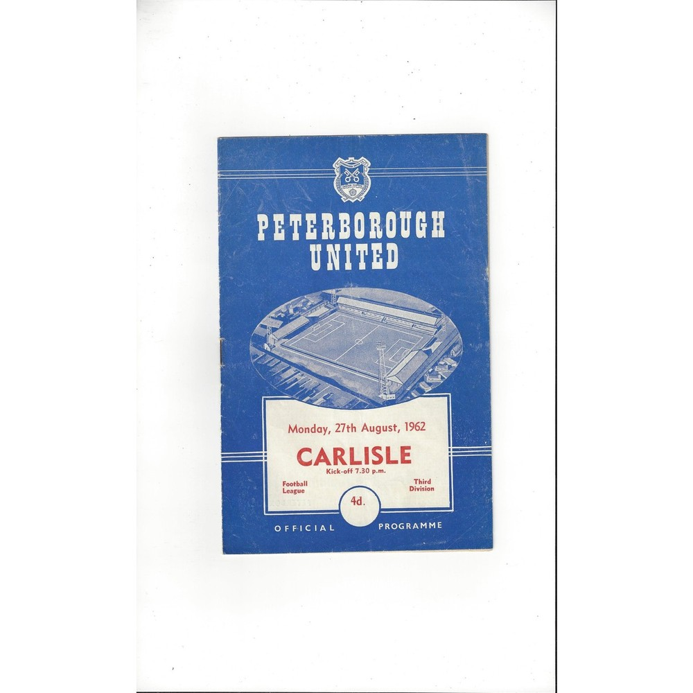 1962/63 Peterborough United v Carlisle United Football Programme