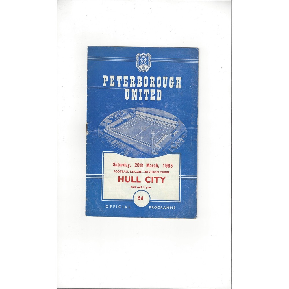 1964/65 Peterborough United v Hull City Football Programme