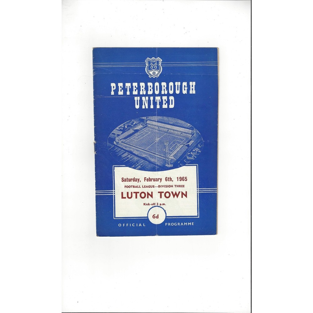 1964/65 Peterborough United v Luton Town Football Programme