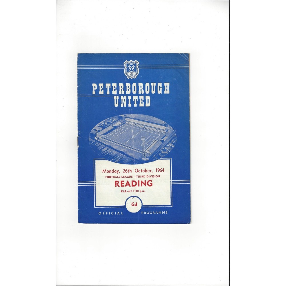 1964/65 Peterborough United v Reading Football Programme