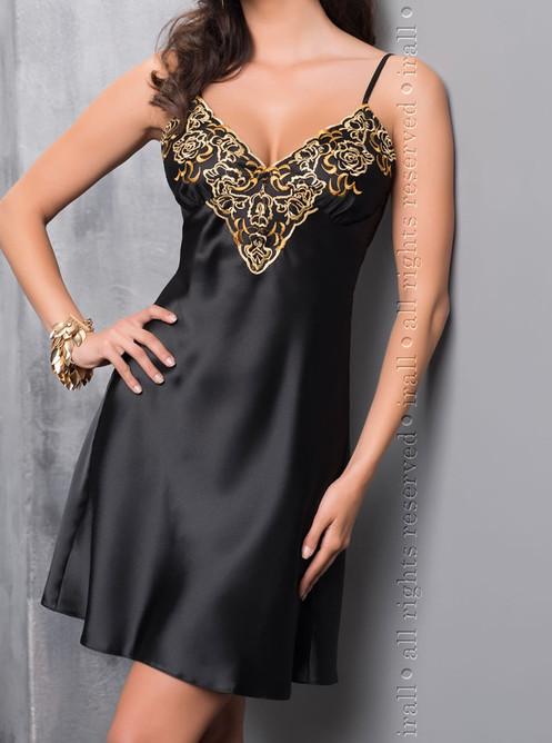 Luna Night Dress Black/Gold
