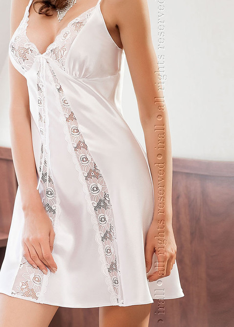 Isolade Night Dress, White, ir