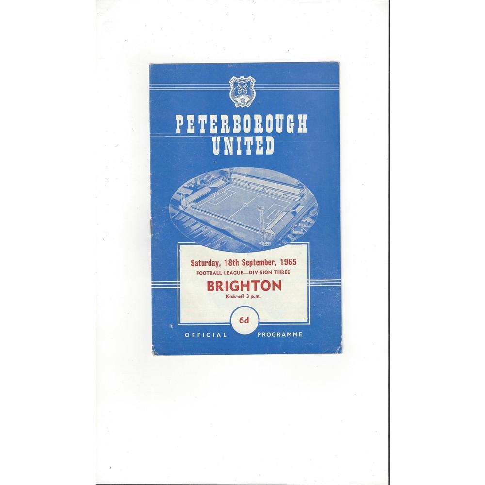 1965/66 Peterborough United v Brighton Football Programme