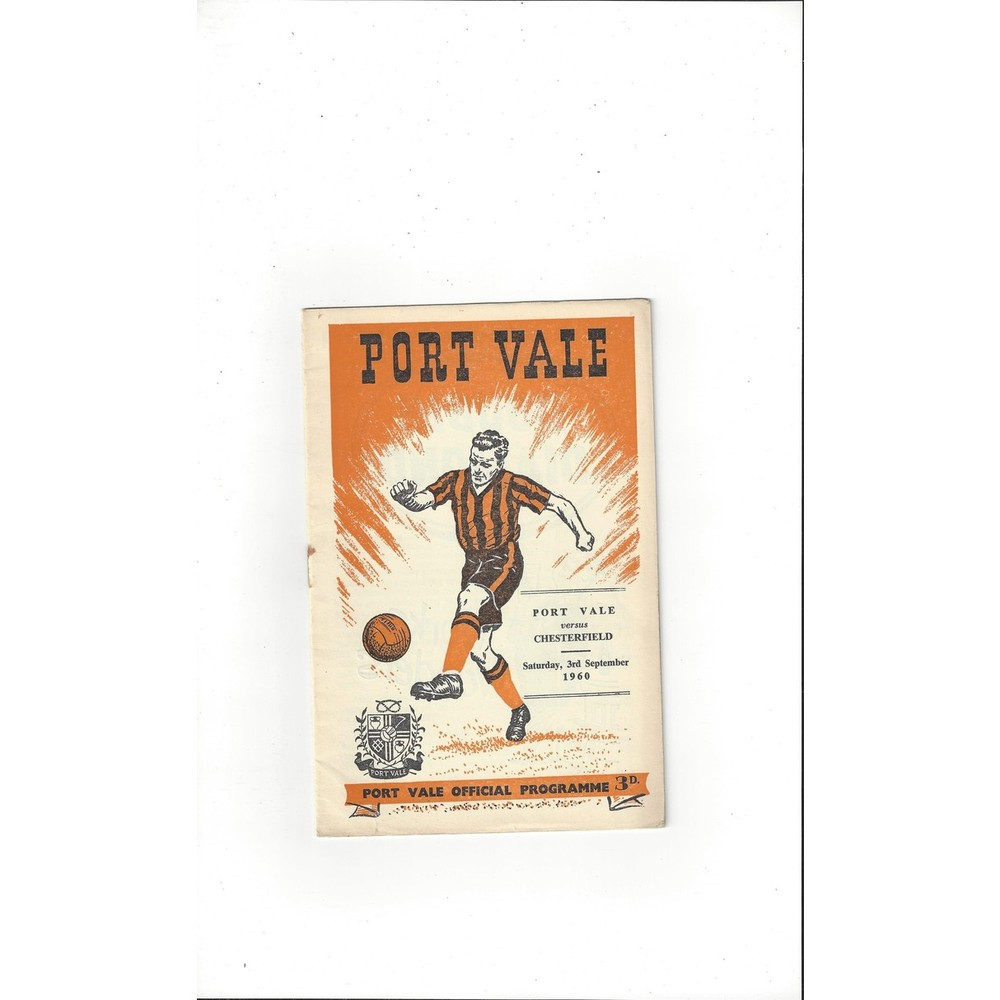 Port Vale Home Football Programmes