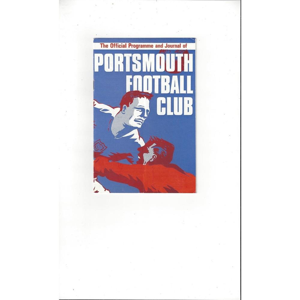 1966/67 Portsmouth v Wolves Football Programme