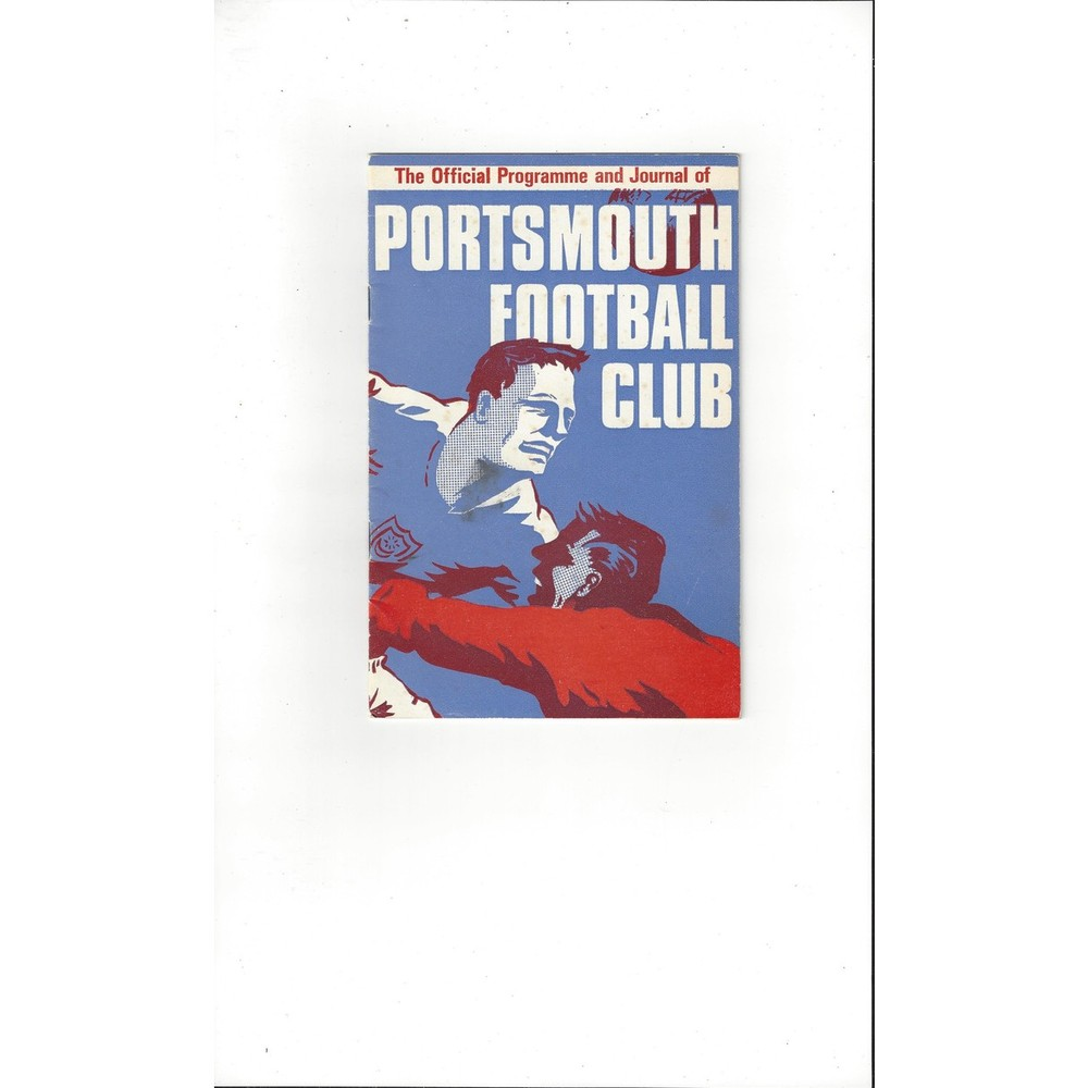 1967/68 Portsmouth v Blackburn Rovers Football Programme