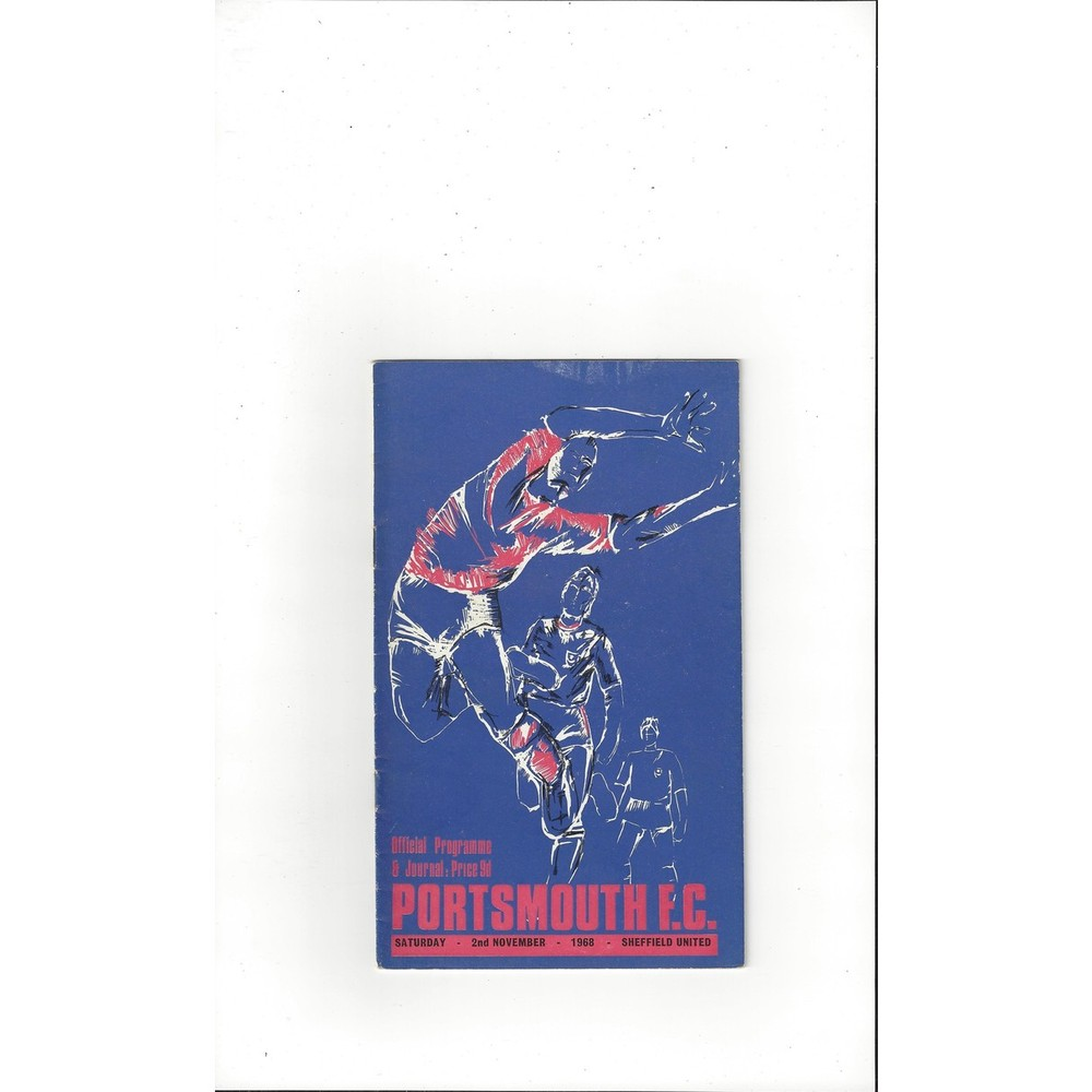 1968/69 Portsmouth v Sheffield United Football Programme
