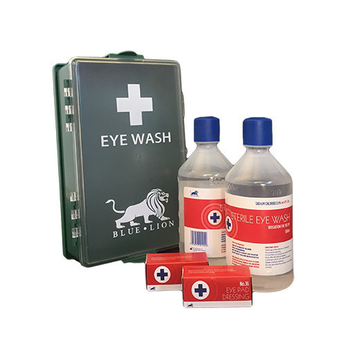 Eyewash Case with 2 x 500ml Bottles and Eye Pads