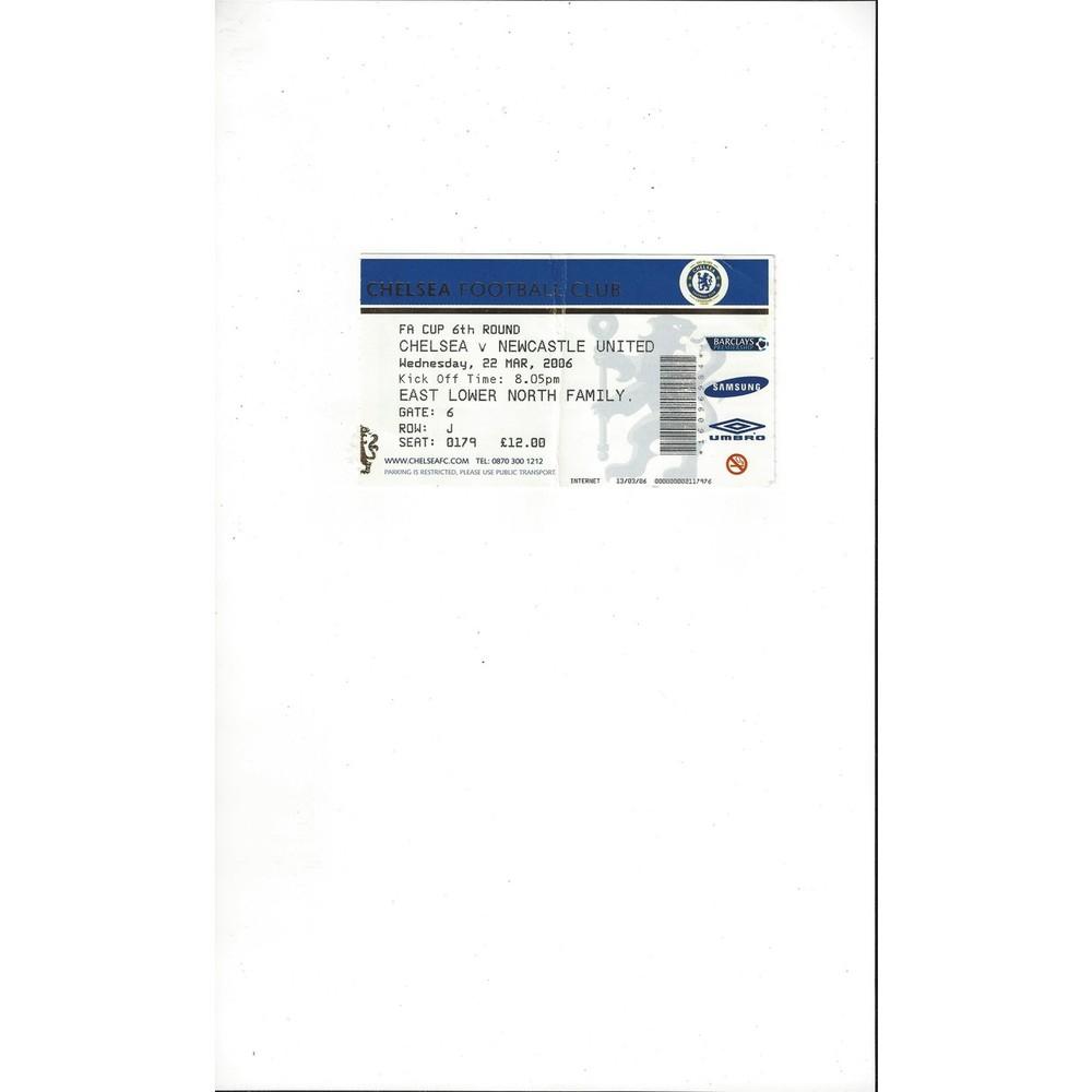 Chelsea v Newcastle United FA Cup Match Ticket Stub 2005/06