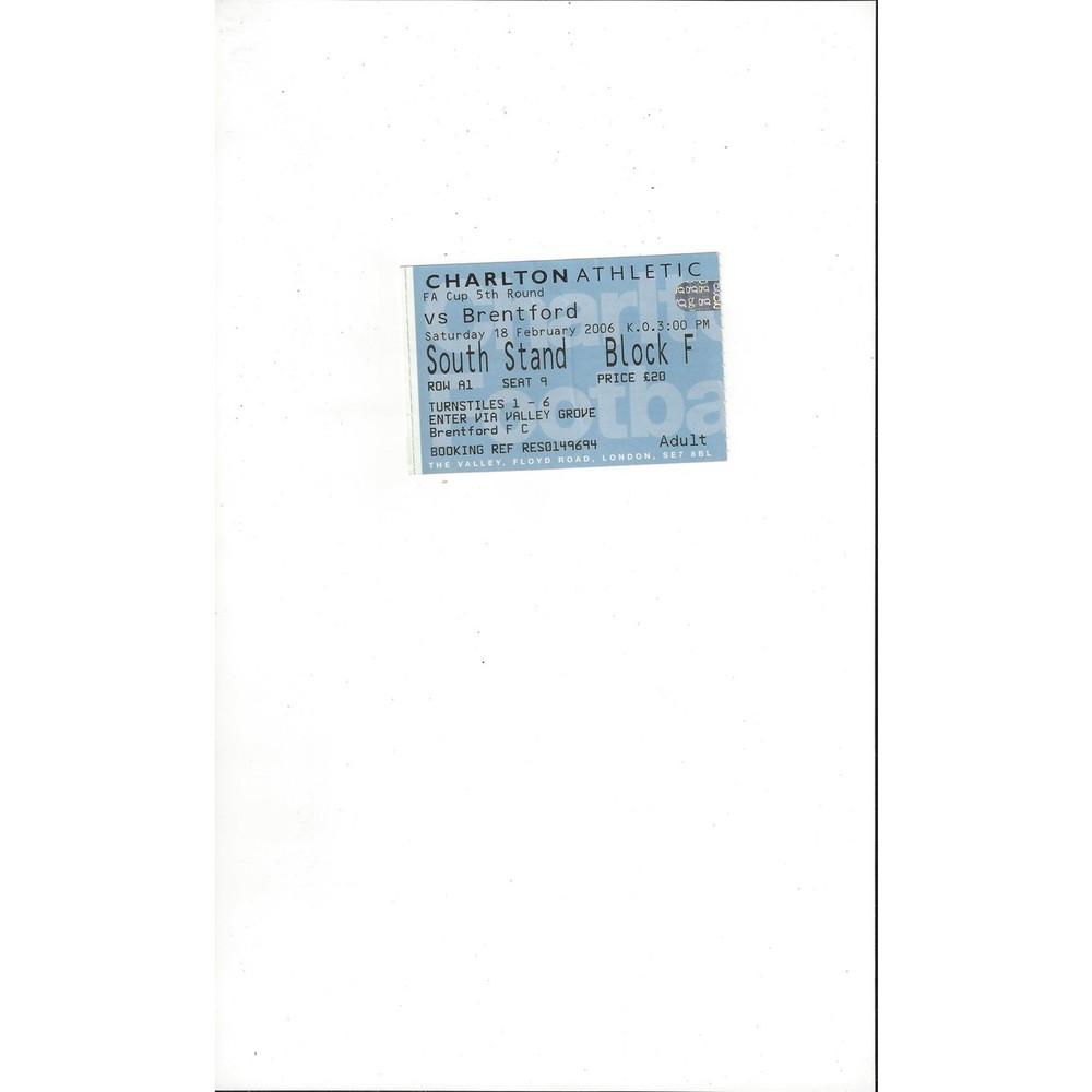 Match Tickets/Stubs