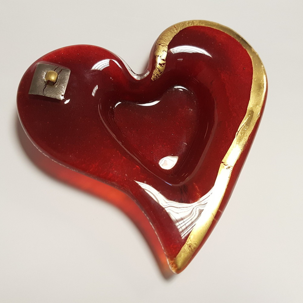 Red / Gold Tealight Holder