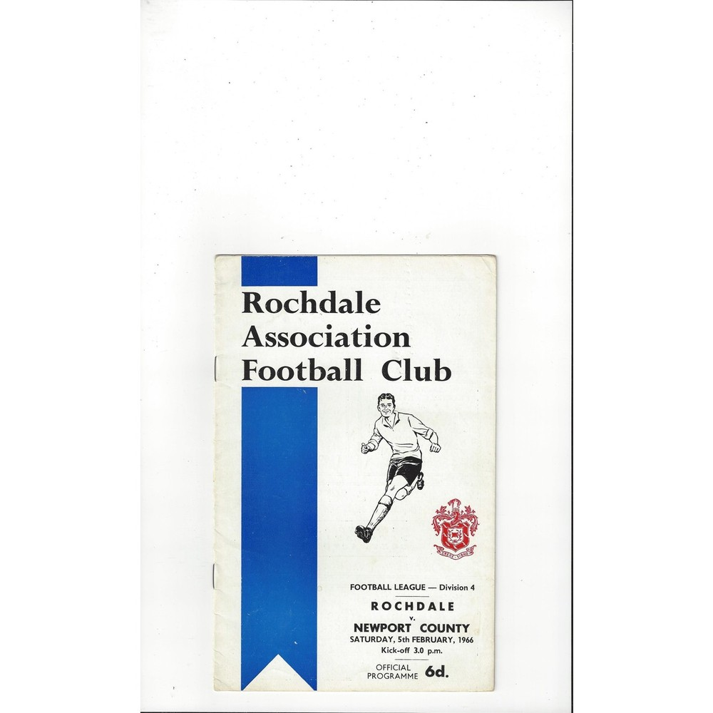 1965/66 Rochdale v Newport County Football Programme
