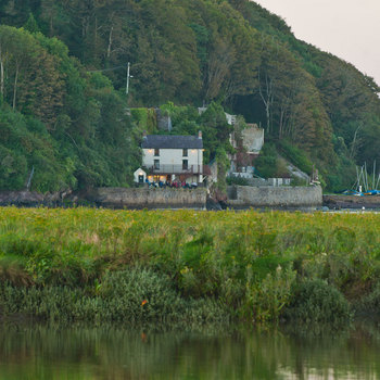 The Dylan Thomas writing shed and boathouse Laugharne