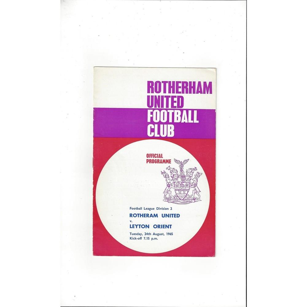 Rotherham United Home Football Programmes