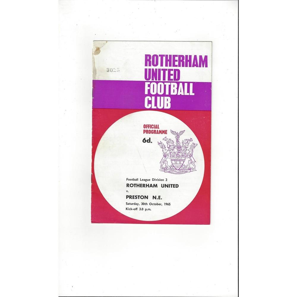 1965/66 Rotherham United v Preston Football Programme
