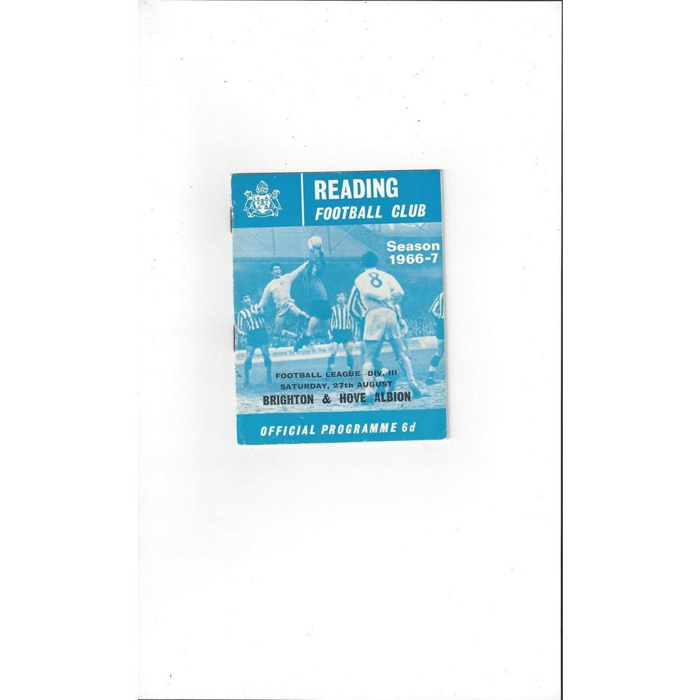 Brighton & Hove Albion Away Football programmes
