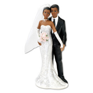 Black Bride & Groom Standing