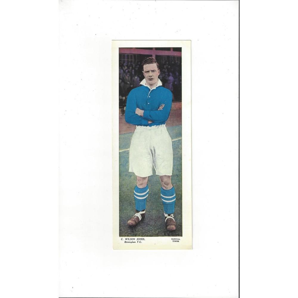 Topical Times Colour Card 1930's - C Wilson Jones Birmingham City