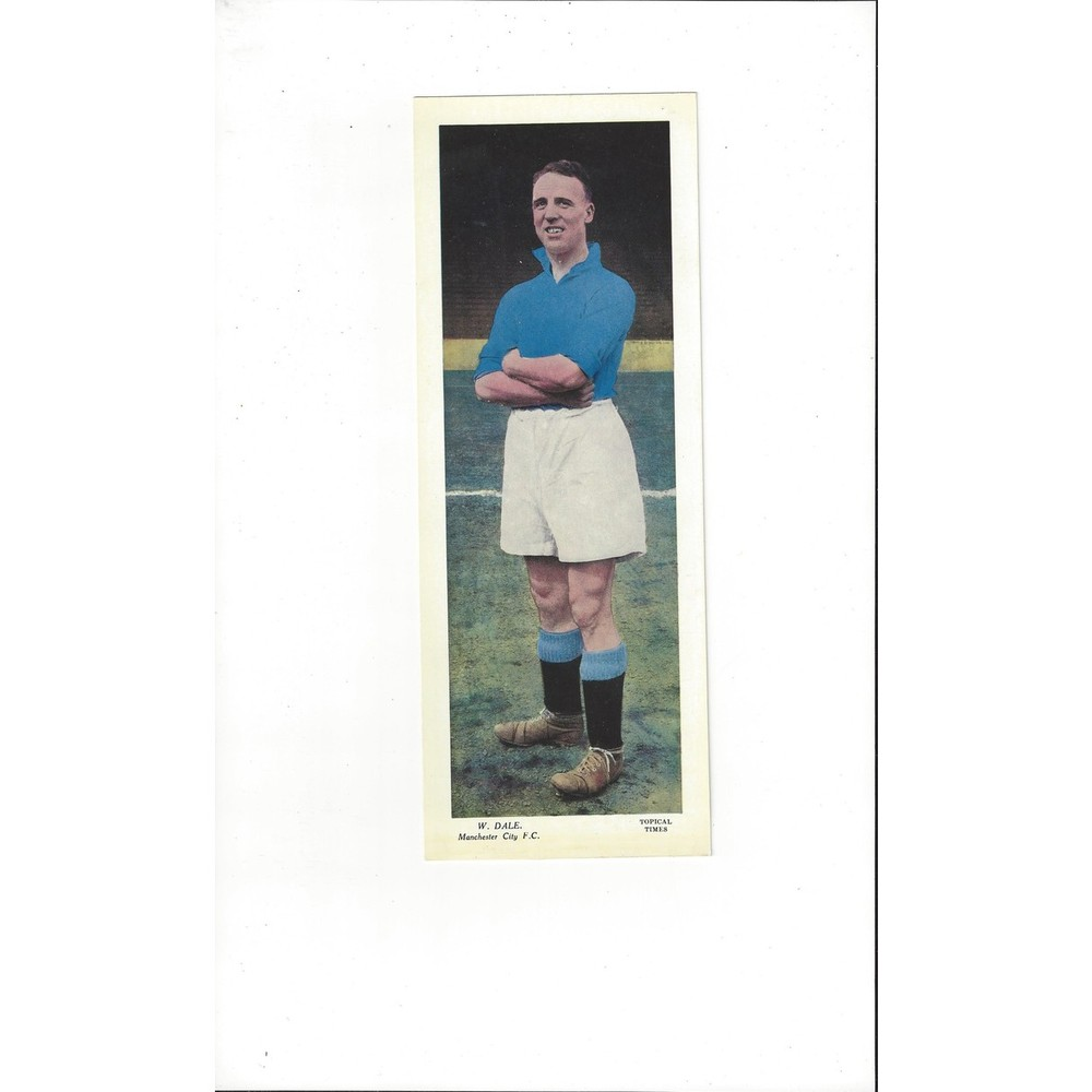 Topical Times Colour Card 1930's - W Dale Manchester City