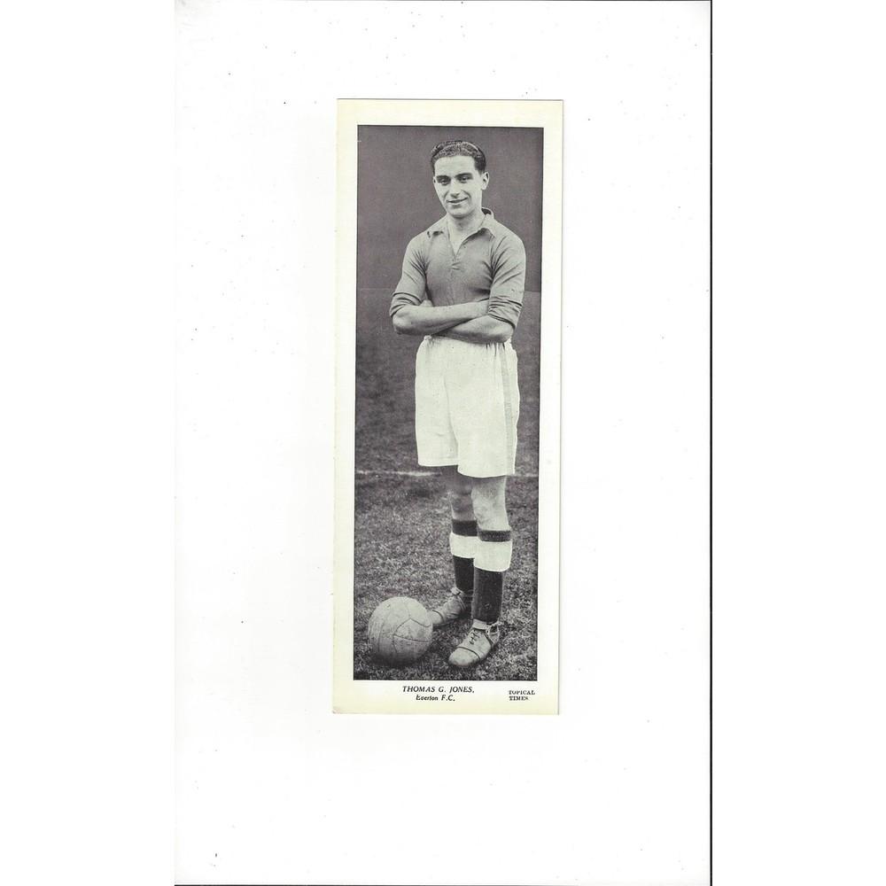Topical Times Black & White Card 1930's - Thomas G. Jones Everton