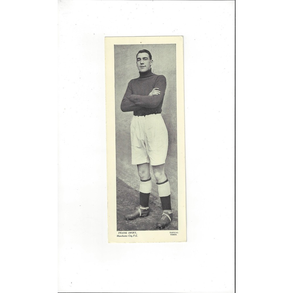 Topical Times Black & White Card 1930's - Frank Swift Manchester City