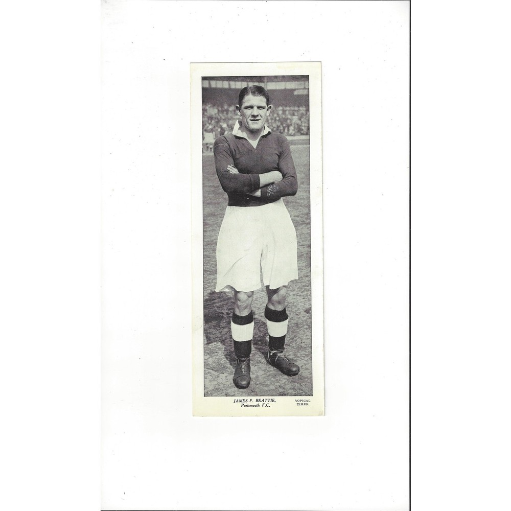 Topical Times Black & White Card 1930's - James F. Beattie Portsmouth