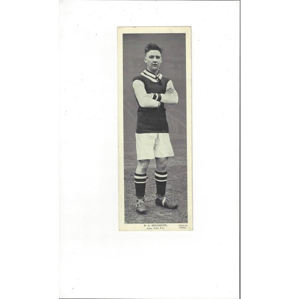 Topical Times Black & White Card 1930's - W. E. Houghton Aston Villa