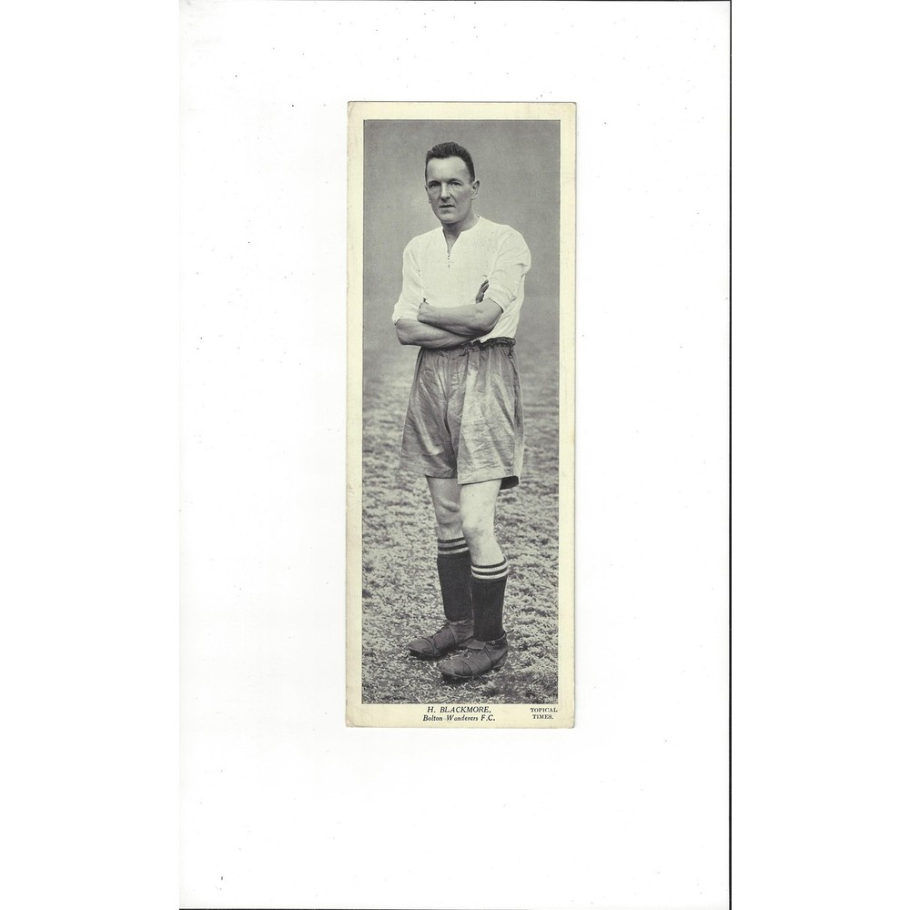 Topical Times Black & White Card 1930's - H Blackmore Bolton Wanderers