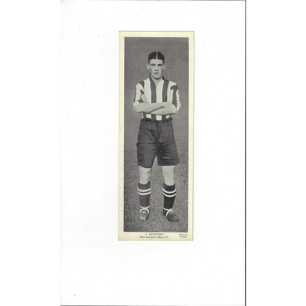 Topical Times Black & White Card 1930's - E Sandford West Bromwich Albion