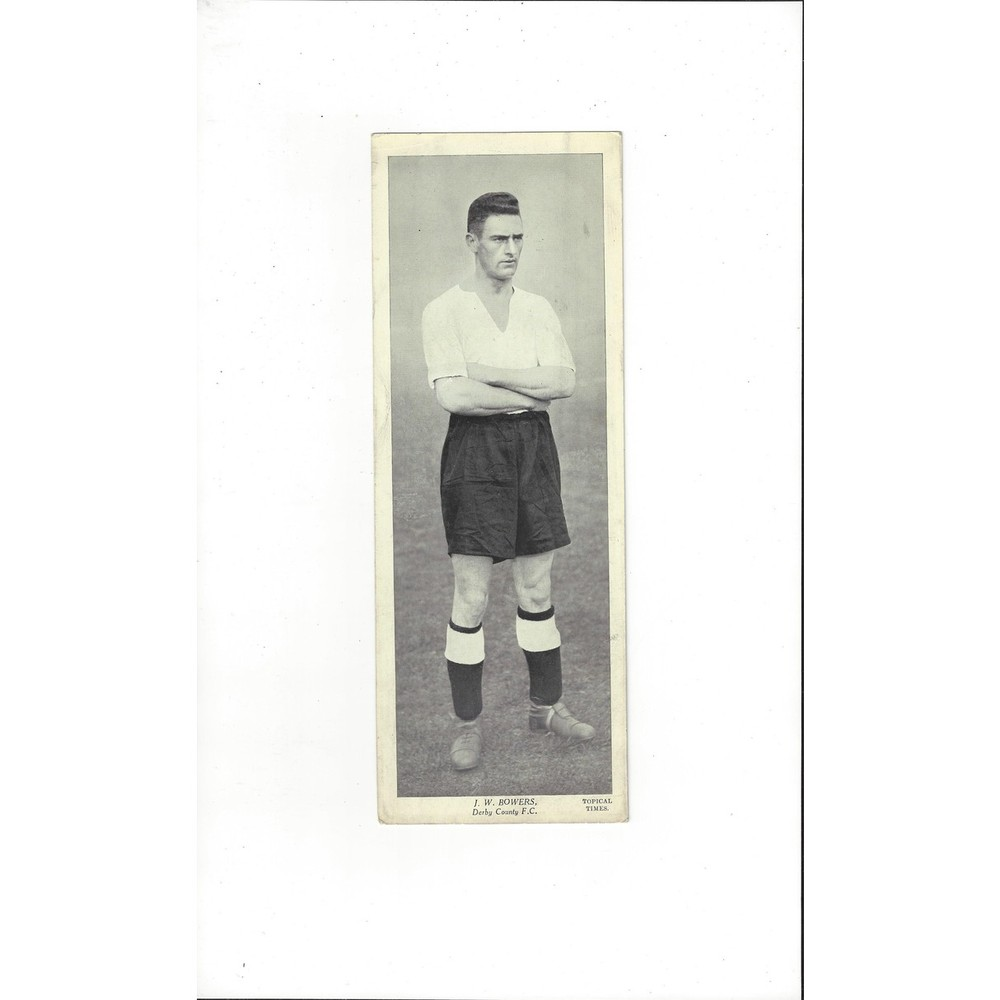 Topical Times Black & White Card 1930's - J. W. Bowers Derby County