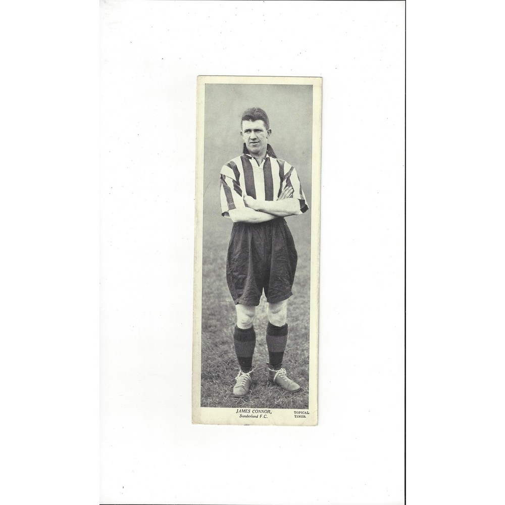 Topical Times Black & White Card 1930's - James Connor Sunderland