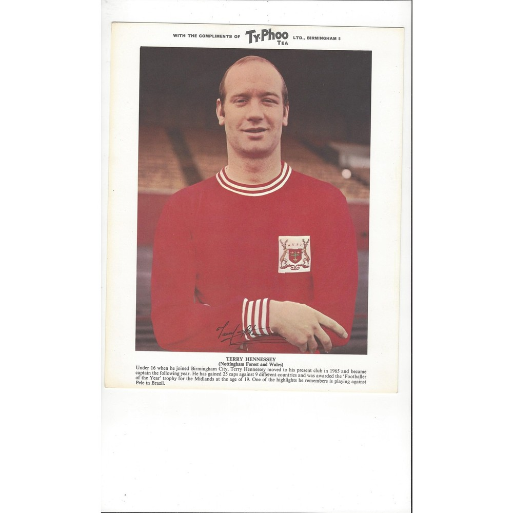 TyPhoo Tea Card - Terry Hennessey Nottingham Forest
