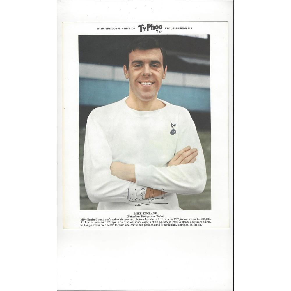 TyPhoo Tea Card - Mike England Tottenham Hotspur