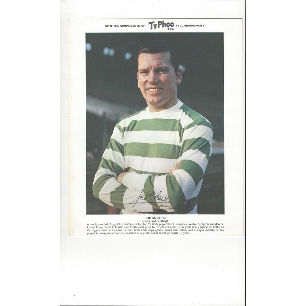 TyPhoo Tea Card - Joe McBride Celtic