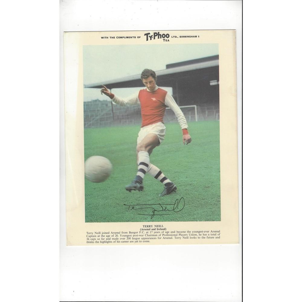 TyPhoo Tea Card Action - Terry Neill Arsenal