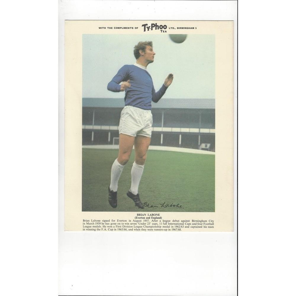 TyPhoo Tea Card Action - Brian Labone Everton