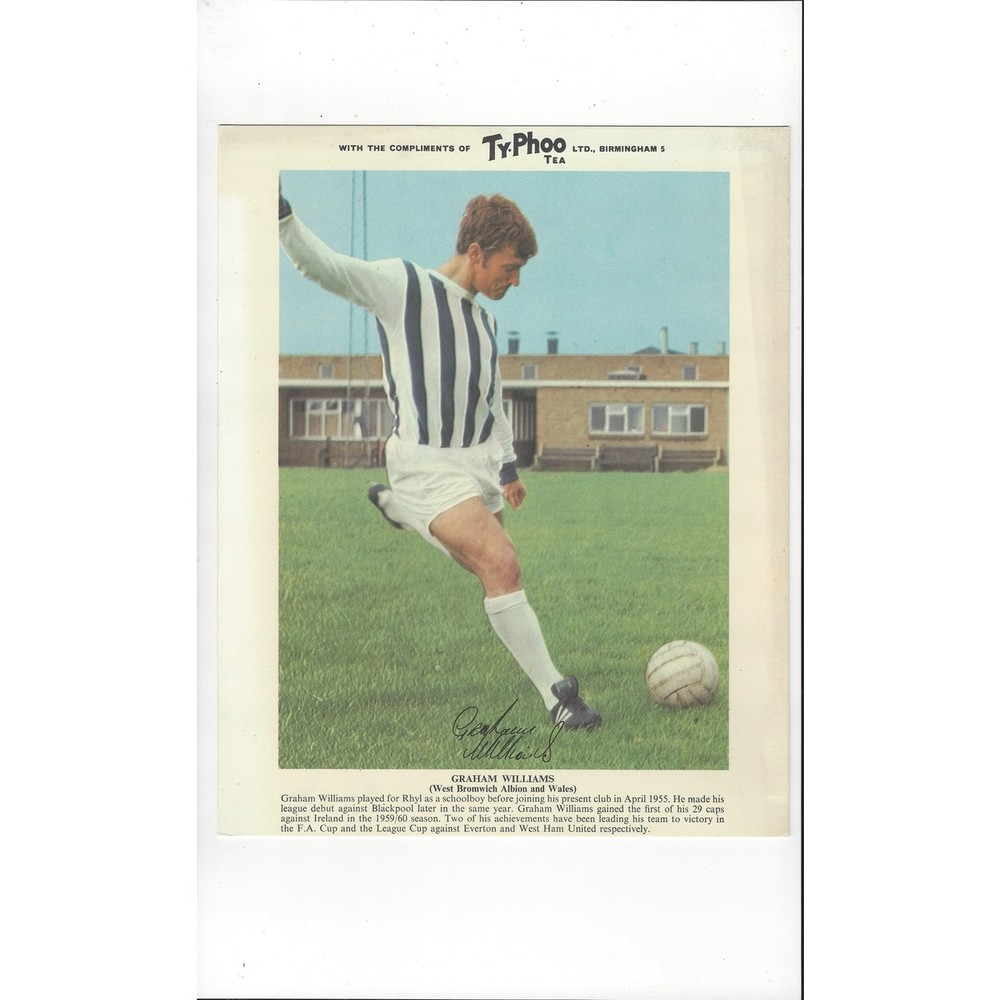TyPhoo Tea Card Action - Graham Williams West Bromwich Albion