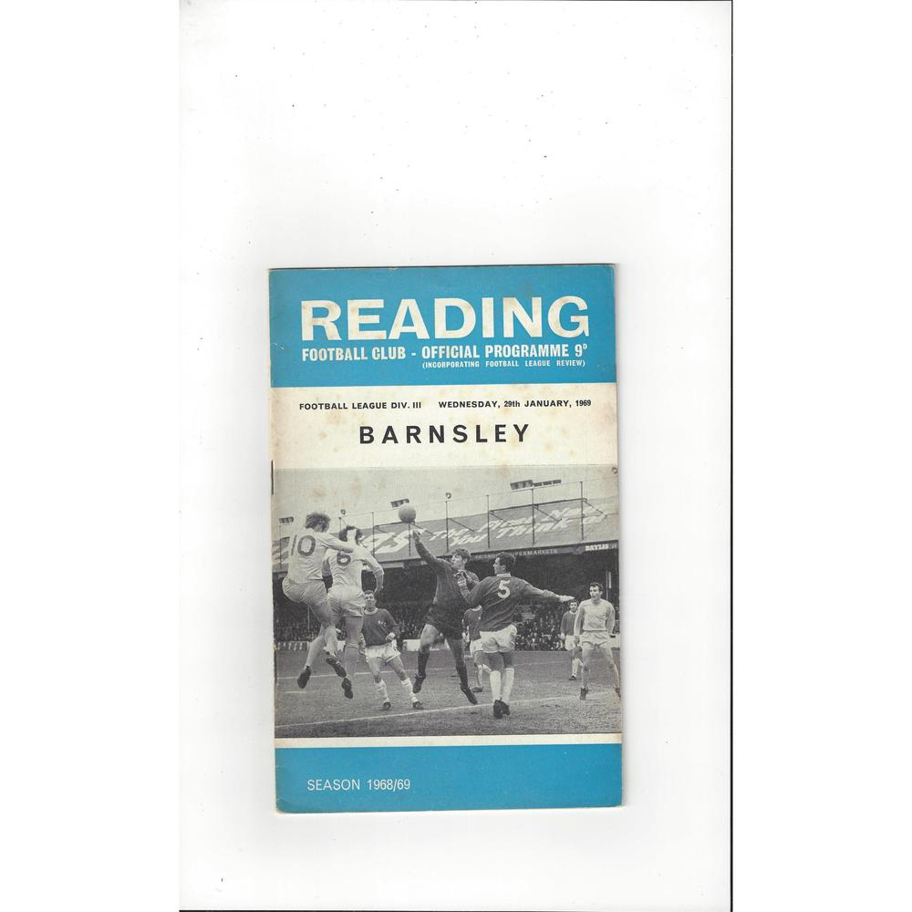 1968/69 Reading v Barnsley Football Programme + League Review
