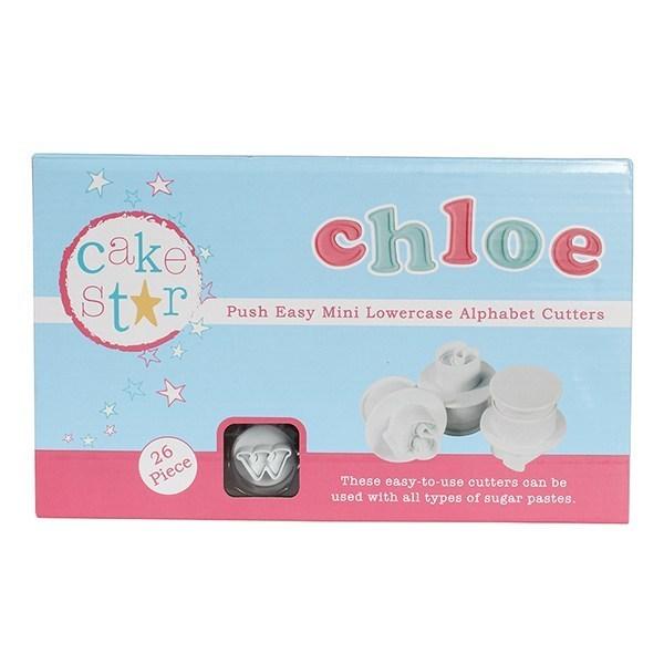 Cake Star Push Easy Mini Cutters - Lowercase - Alphabet Set 26 Piece