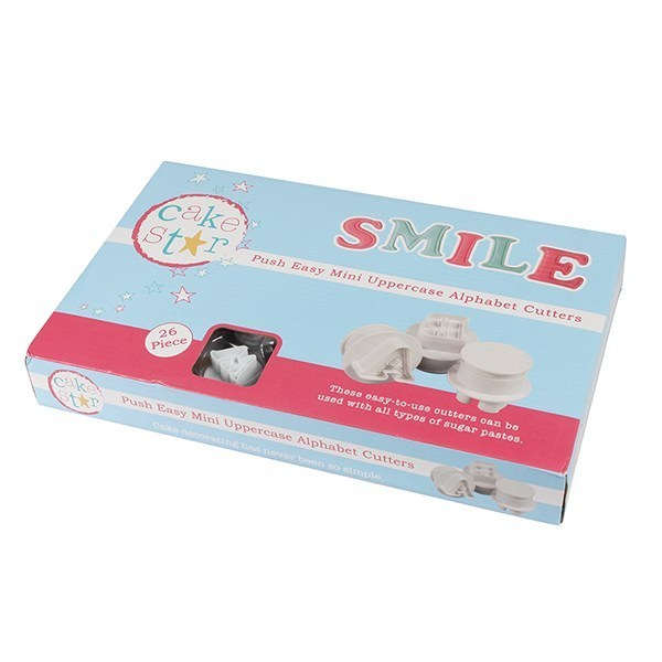 Cake Star Push Easy Mini Cutters - Uppercase - Alphabet Set 26 Piece