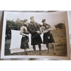 Cefn Onn Scout Camp 1939 Original Photo  Alf, Mac and Adams