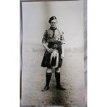DWS Evans Kilted Scout 1938 Original Photo